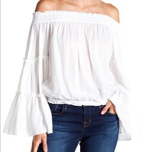 Free People Off the Shoulder Bell Sleeve Top